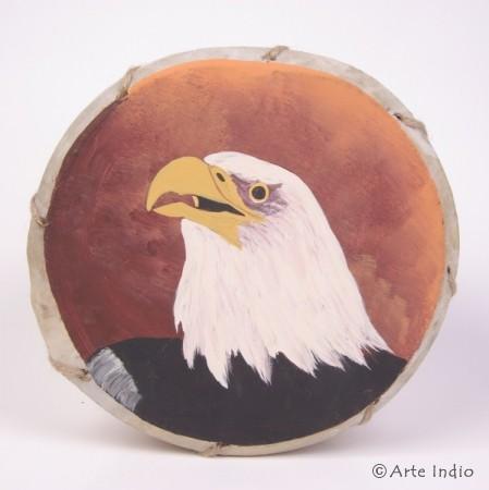 Tinya. Schamanen-Trommel. ca. ø: 22 cm. Adler