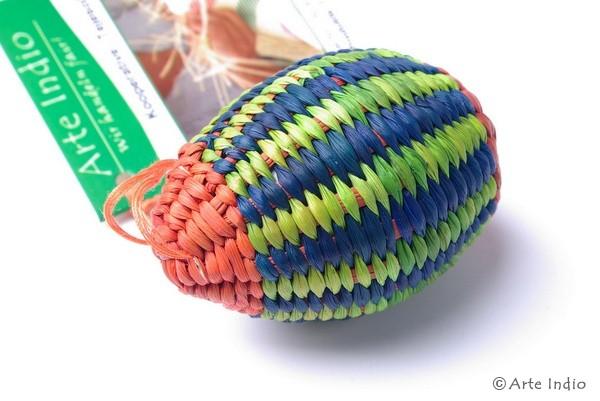 Ei aus Binsen:Orange, grün, blau