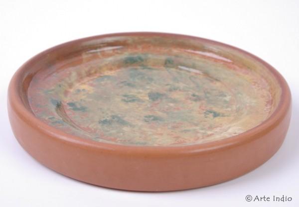 Handbemalte Keramikteller Ø ca. 12,5 cm