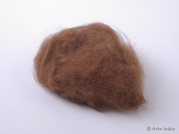 40g 100% Alpaka Wolle. Unbehandelt. Dunkelbraun