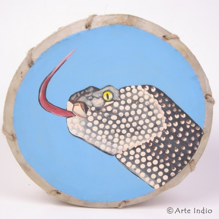 Tinya. Schamanen-Trommel. ca. ø: 22 cm. Schlange