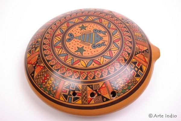 Ocarina Maxi ca. 30 cm x 30 cm. Oval. 8 Löcher