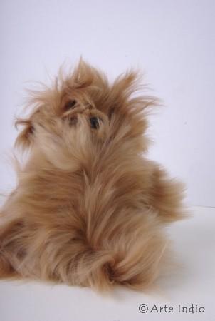 Teddy aus Alpakafell. 20 cm. Suri Fell
