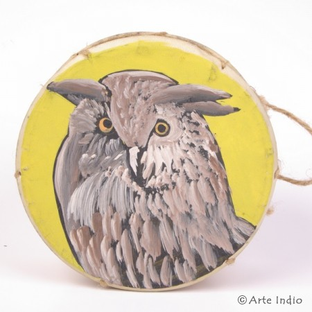Tinya. Shaman drum. Owl
