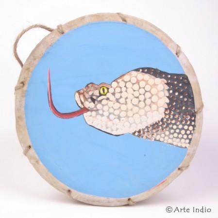 Tinya. Schamanen-Trommel. ca. ø: 25 cm. Schlange