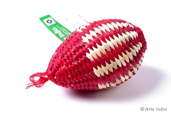 Ei aus Binsen. Rot , natur