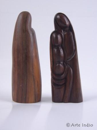 Holzfigur - Israelfamilie