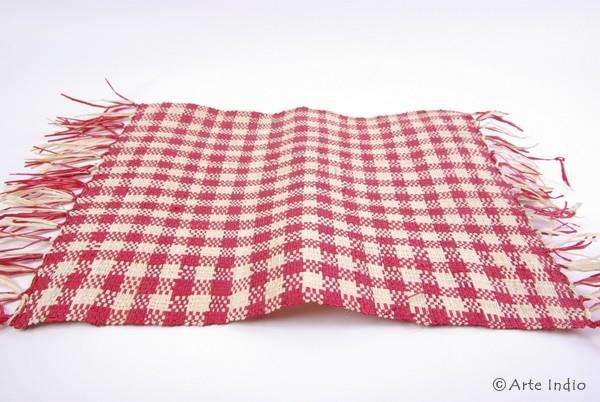 Platzdeckchen aus Binsen (rot)