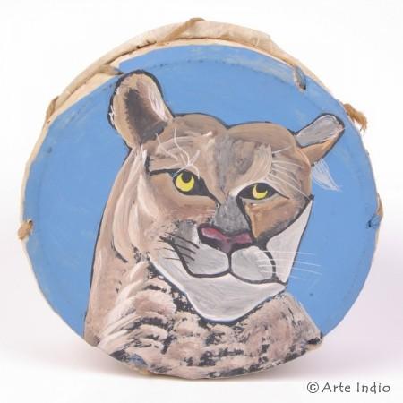 Tinya. Schamanen-Trommel. ca. ø: 15 cm. Puma