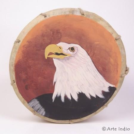 Tinya. Schamanen-Trommel. ca. ø: 25 cm. Adler