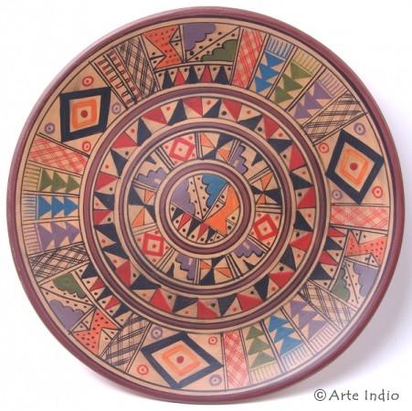 Handbemalter Keramikteller Ø 25 cm