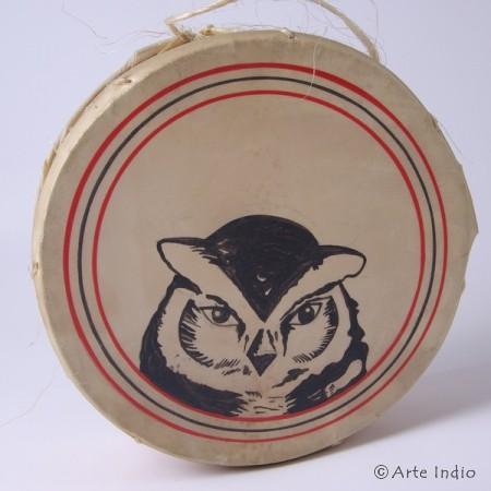 Tinya. Schamanen-Trommel. Eule ∅ ca. 18 cm