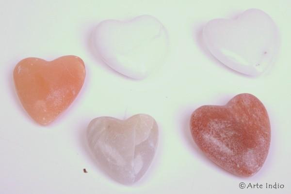 Alabaster-Herzen