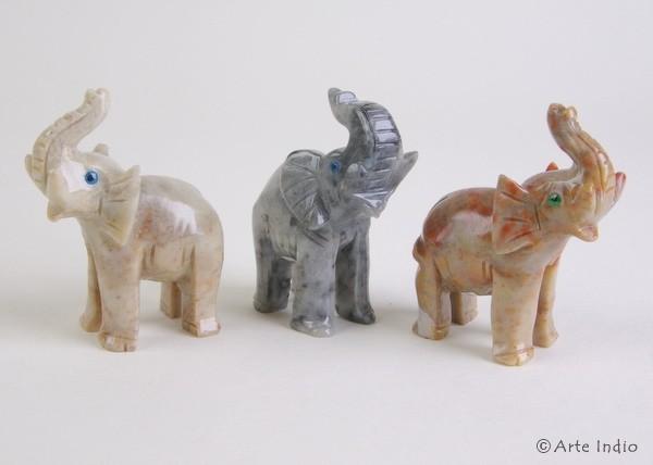 Steinfigur ca. 5 cm. Elefant