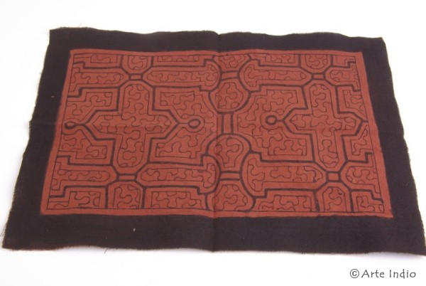 Bemalte Decke - Shipibo Indianer ca. 31 cm x 21 cm